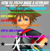 How To Easily Make a Keyblade! by TheCoolCosplayer22