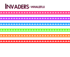 Invader Star Papers by WHALEFLU