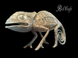 Chameleon wire sculpture7 by braindeadmystuff