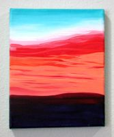 Abstract Sunset by Eccentric-Indigo