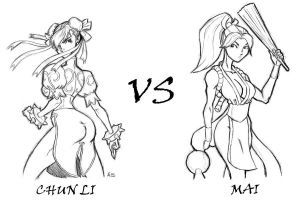 Chun li vs Mai by wardog-zero