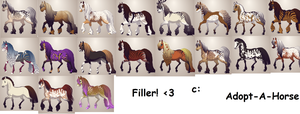 Partially Free Horse Adopts by deathbyrobotunicorns