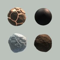 Four Blender Materials by Hafunui