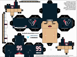 Brian Cushing Texans Cubee by etchings13