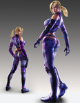 Nina Williams (profile and back view) by ToshinWilliams