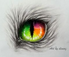 Rainbow cat eye by ilinea