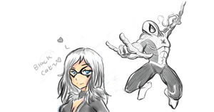 Black Cat and Spiderman by theREDspy