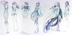 aqua sketches by transe
