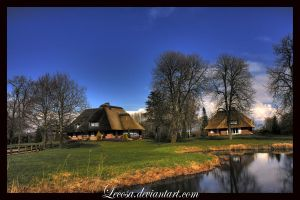 thatched house.. by Lecosa
