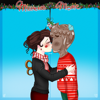 Mistletoe Meme: Benvolio and Melody by ask-cyclone