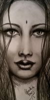 womans face practise by tonez1