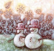 snowman detail by hailey-bu
