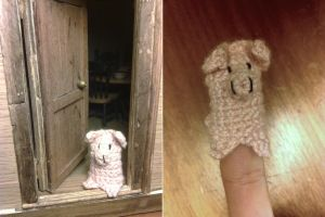 Cute finger puppet pig 01 by Cuenk89