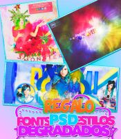 +REGALO 100 WATCHERS/   FONTS/DEGRA./PSD'S/STYLE by DaniMonsterEditions