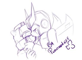 TF Slash - Prowl x Jazz Cute by plantman-exe