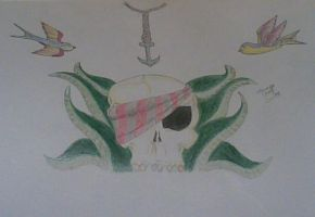Pirate themed tattoo design. by blitzkriegBOOM