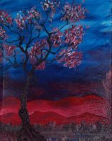 red hills, anouther tree by warnertoddjames