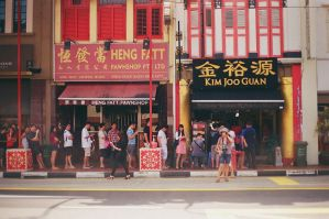 The Bak Kwa Queue by slumberbreeze