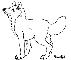Free Canine Lineart (MS Paint) by Beaverkat