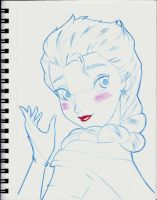 Elsa Sketch by Anime-Ray