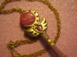 Sailor Moon Cutie Moon Rod Necklace 4sale by Glitter-Garage