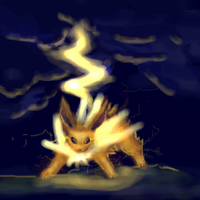 Jolly jolty jolteon by Moonseed