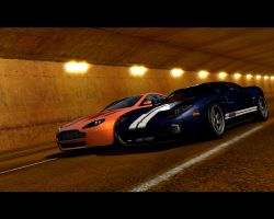 Ford GT and Aston Martin by Thaumaturgist-Dave