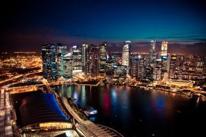 Singapore Skyline by the-universal-mind