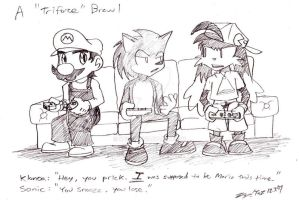 Mario vs. Sonic vs. Klonoa by kd99
