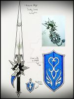 Noblesse Oblige Lance Keyblade Transformation by ExusiaSword