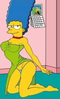 Sexy Marge Simpson by paulibus2001