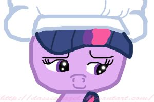 Twilight Sparkle drawing is my cook. by DassieDazel