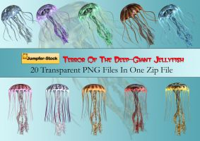 Giant Jellyfish PNG Stock Pack by Roys-Art