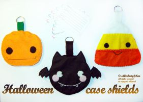 Trick or Treat case shields by Greencherryplum