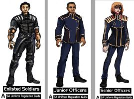 COMMISSION - Systems Alliance Soldiers set 01 by TheLivingShadow
