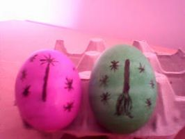 Elphaba And Glinda Ukrainian Easter Eggs by glitter8pony