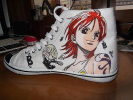 One Piece shoes: Nami by mirimmd