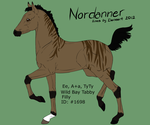 Nordanner Foal - #1698 by kagetora4ever