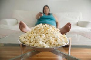 Fat Girl with food by 400lbFatGirl