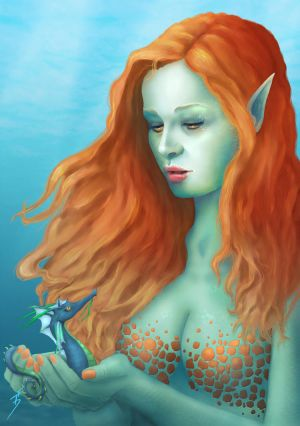 Sea Elf by TobyFoxArt