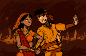 Avatar AU - Bollywood Kataango by schellibie