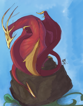 Dragon On Top by Vyoma