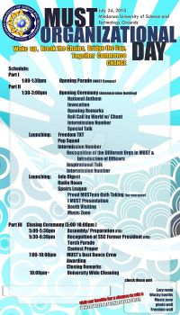 Organizational Day Schedule by Memeng2009