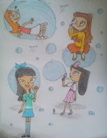 Request-Phineas and Ferb's girls soapbubble party by SuperRainbowGirl