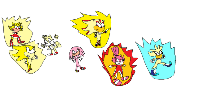 Super Sonic And Friends by lexi-4