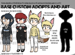 ADOPT CUSTOMS AND BASE ART by ZACHARlE