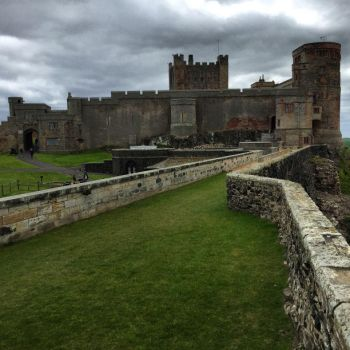 Bamburgh Castle wall by day-seriani