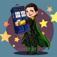 Loki stole the TARDIS by pastellZHQ