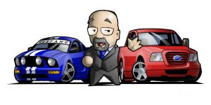 Dad + Ford Chibis by CGVickers