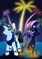 Missile and Thunderhoov's show by LyricaBelachium